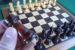 Detall de taulell d'escacs per a persones cegues